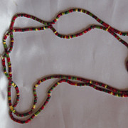 Vintage Heishi Beads Necklace 42""