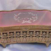 Old Brass Ormolu Dresser Box