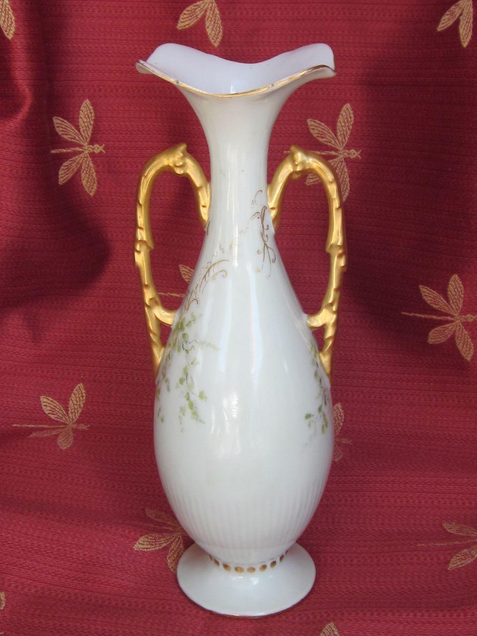 """Nouveau Limoges Porcelain Vase  9.75"""""""