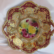 Nippon Roses Cake Plate - Red Tag Sale Item