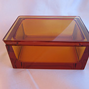 Vintage Amber Crystal Box