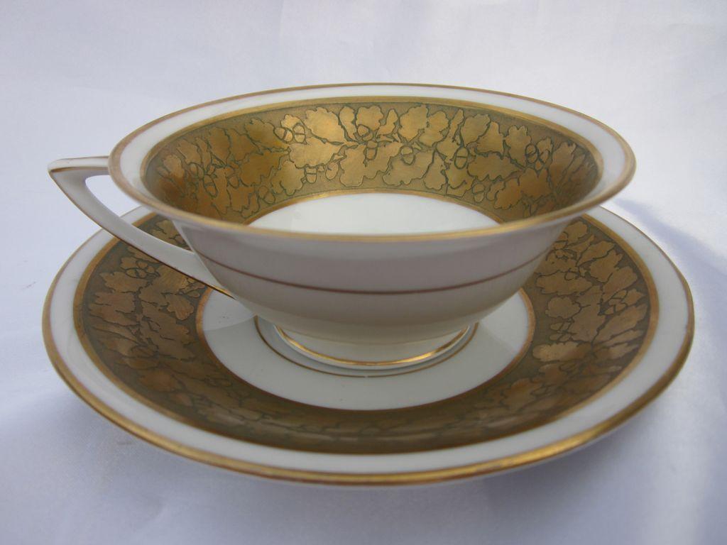 Rosenthal Encrusted Gold Cup & Saucer Set