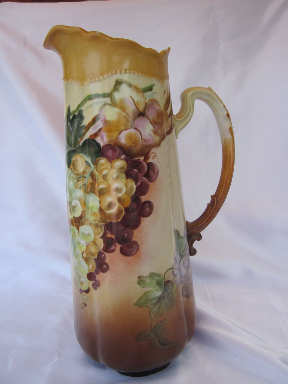 Vintage Royal Austria Hand Painted Grapes Tankard