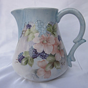 Hand Painted Berries & Blossoms Pitcher