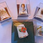 Five European Porcelain Thimbles