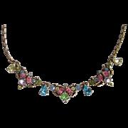 Vintage Crystal Necklace 16.25