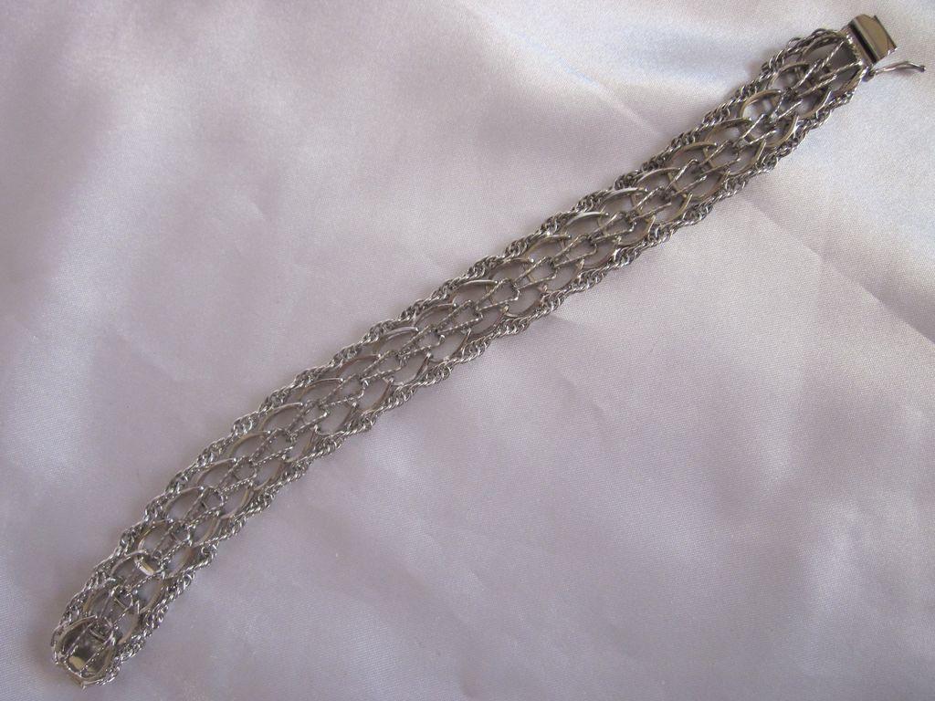 """Vintage Forstner Sterling Bracelet 8.25"""""""
