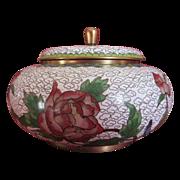 Vintage Cloisonne Covered Jar