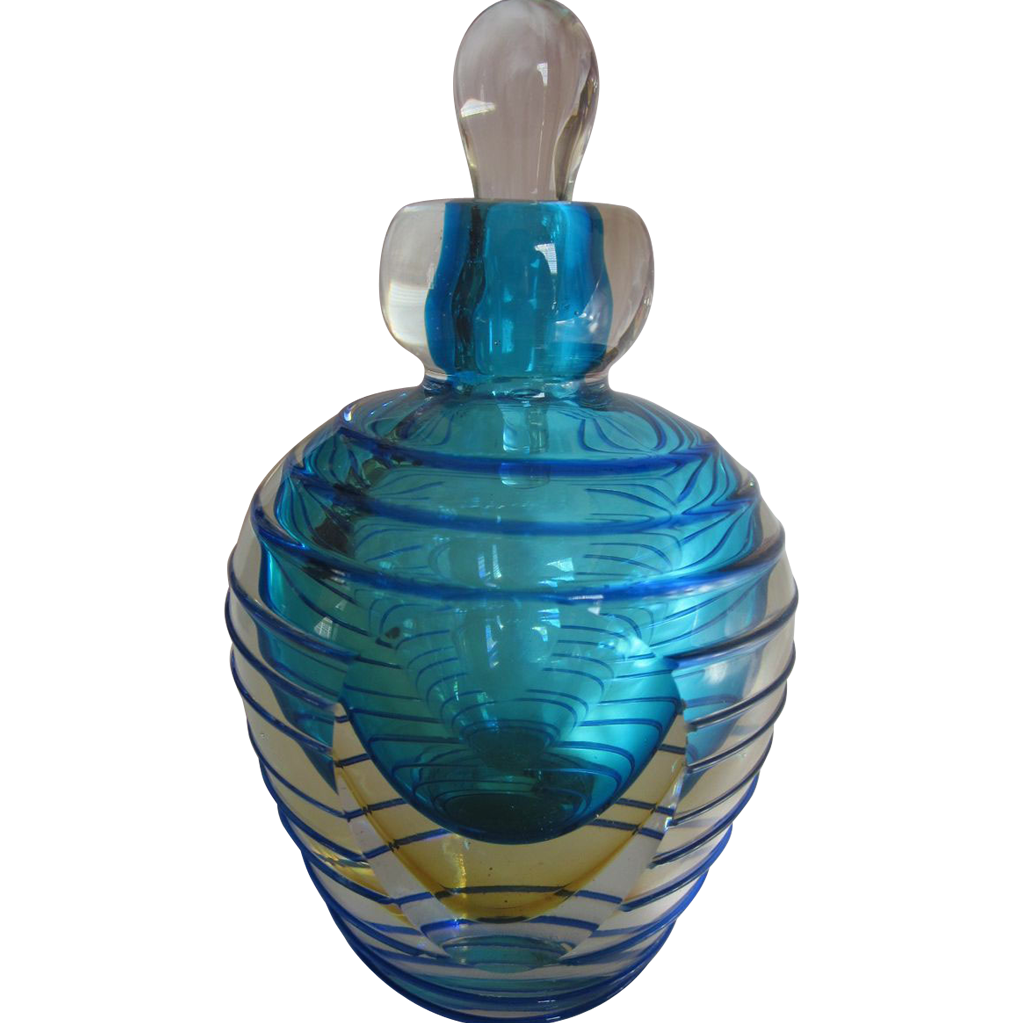 Art Glass  Paperweight Bottle