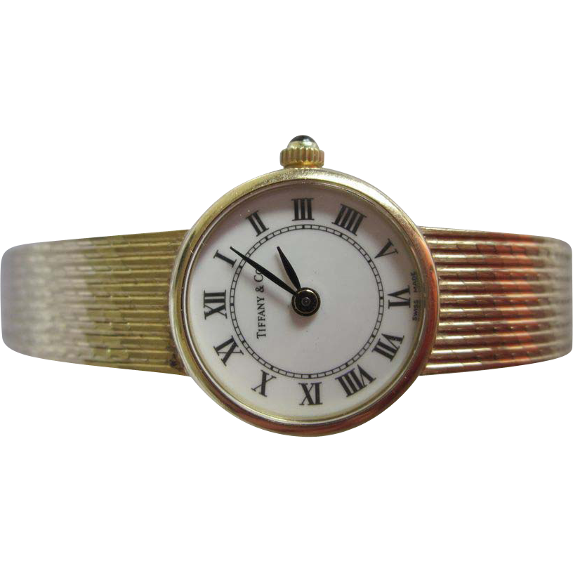 1970's Tiffany & CO 14K Gold Ladies Watch