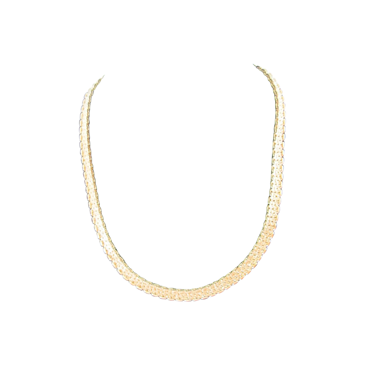 Signed Monet Gold Tone Necklace 16.5""