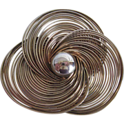 Vintage Stainless Steel Wire Brooch