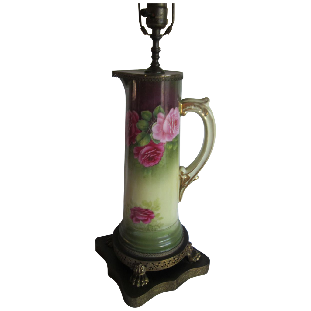 Old Roses Tankard  Lamp
