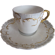 Limoges 19th Century Demi Cup & Saucer Set