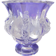 Signed Lalique Dampierre Vase