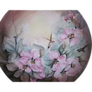Hand Painted Wild Roses Bavaria Plate - Red Tag Sale Item