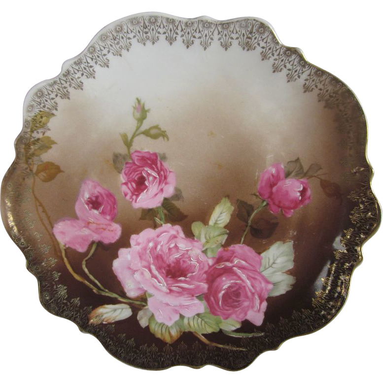 Old C. Tielsch Germany Roses Plate