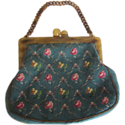 Vintage Lucite Tapestry Purse