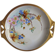 Old Hand Painted Bavaria Berries & Blossoms Cake Plate