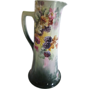 Limoges Berries & Blossoms Tankard 12.75""