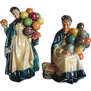 1940'S Carnival Chalkware Balloon Ladies