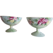 Old M Z Austria Hand Painted Roses Punch Cups