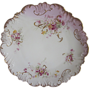 Old Limoges Purple Flowers Plate