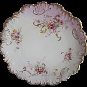 Old Limoges Purple Flowers Plate