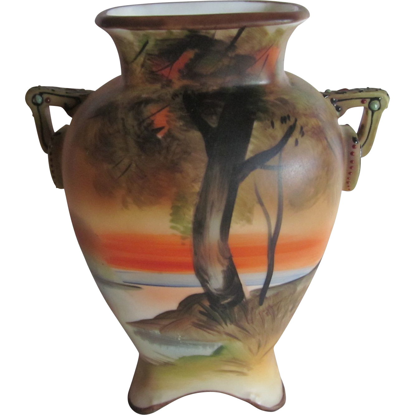 Small Nippon Hand Painted Vase