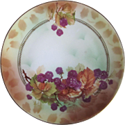 """Old Royal Rudolstadt Hand Painted Berries Small Plate  6"""""""