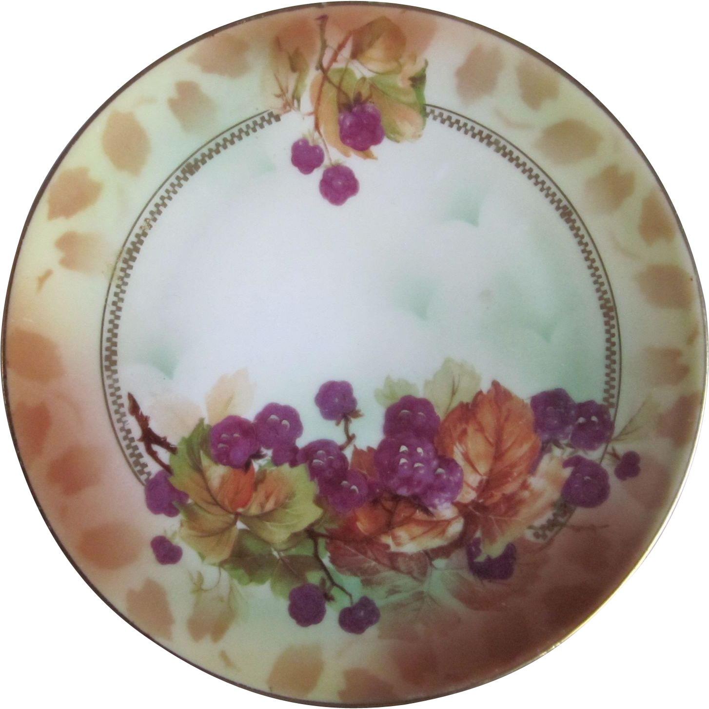 Old Royal Rudolstadt Hand Painted Berries Small Plate  6""