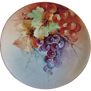 Old Thomas Bavaria Hand Painted Grapes Plate