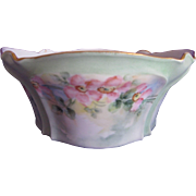 Hand Painted Wild Roses German Porcelain Ferner