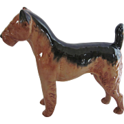 Large Mid Century Ceramic Terrier Dog Figurine