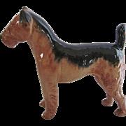 Large Mid Century Ceramic Terrier Dog Figurine