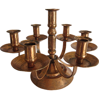 Solid Copper Candelabra