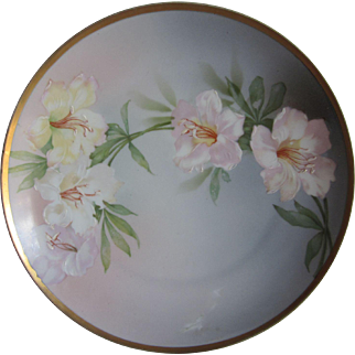 Old MZ Austria Flowers Plate