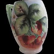 Old Hand Painted Strawberries  Bavaria Porcelain Mug