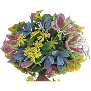 1930's French beaded Flowers Bouquet