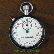 Vintage New Old Stock Breitling Stopwatch 2534 Black Bezel