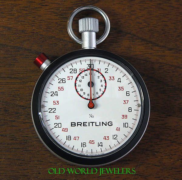 Vintage New Old Stock Breitling Stopwatch 2534 Black Bezel