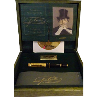 Collectible Aurora Giuseppe Verdi Opera Tribute Fountain Pen #0172/E
