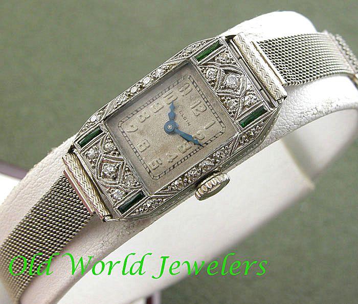 Elegant Elgin Lady's Watch Art Deco Circa 1920's