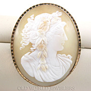 Antique Cameo Brooch w/GF Frame