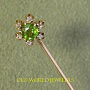 Antique Flower Stick Pin With Diamonds