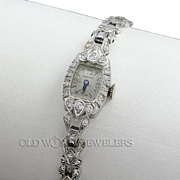 Hamilton Diamond Vintage Watch Platinum & White Gold