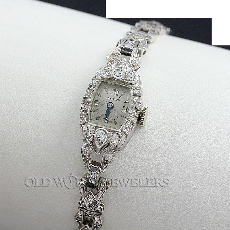 Hamilton Diamond Vintage Watch Platinum & White Gold