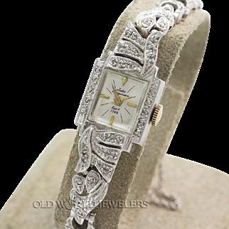 Jules Jurgensen Ladys Diamond Dress Watch Circa 1950s