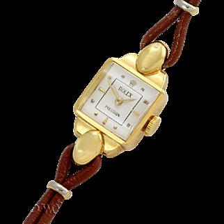 Rolex Lady Vintage Precision Ref 8001 18K Circa 1950
