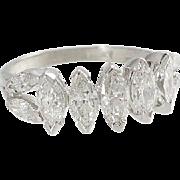 Platinum 2cttw Marquise Diamond Anniversary Band